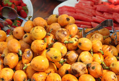 Frutti del Loquat Immagini Stock
