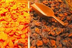 Frutti dell'albicocca secca, fuoco selettivo Immagine Stock