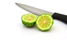 Frutti della calce del Kaffir isolati su bianco Immagine Stock Libera da Diritti