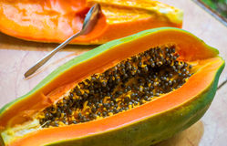 Frutti della papaia Fotografia Stock Libera da Diritti
