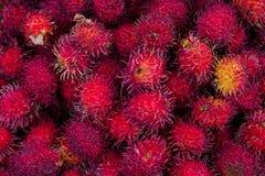 Frutti di litchi nel mercato di Chichicastenango Fotografia Stock Libera da Diritti