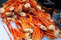 Frutti di mare 1 dei piedini di granchio Immagini Stock Libere da Diritti