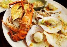 Frutti di mare con piccante Immagine Stock