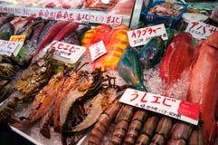Frutti di mare crudi sul mercato in Okinawa Fotografia Stock Libera da Diritti