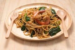 Frutti di mare degli spaghetti Immagini Stock
