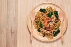 Frutti di mare degli spaghetti Fotografia Stock