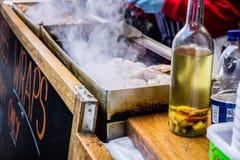 Frutti di mare del barbecue Fotografia Stock