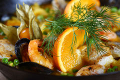 Frutti di mare del Paella squisiti Fotografia Stock