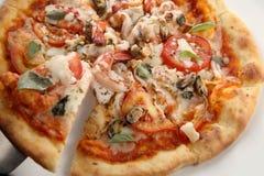 Frutti di mare della pizza Immagine Stock Libera da Diritti