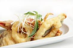 Frutti di mare fritti nel grasso bollente Fotografia Stock Libera da Diritti