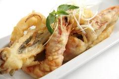 Frutti di mare fritti nel grasso bollente Immagine Stock