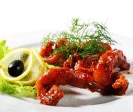 Frutti di mare - gamberi fritti Immagine Stock Libera da Diritti
