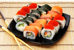Frutti di mare giapponesi Immagine Stock Libera da Diritti