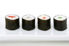 Frutti di mare giapponesi dei sushi Fotografie Stock
