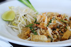 Frutti di mare Padthai, l'alimento famoso della Tailandia Immagine Stock Libera da Diritti