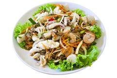 Frutti di mare tailandesi dell'insalata di stile Fotografia Stock Libera da Diritti