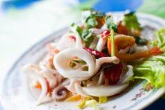 Frutti di mare tailandesi di Yum. Immagine Stock Libera da Diritti