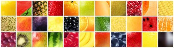 Frutti differenti con differenti strutture, modelli e colori Fotografia Stock