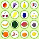 Frutti e bacche piani Fotografia Stock
