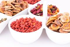 Frutti e bacche secchi Fotografia Stock Libera da Diritti