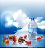 Frutti e fondo dell'acqua Immagini Stock Libere da Diritti