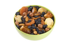 Frutti e miscela secchi dei dadi Fotografia Stock