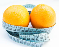 Frutti e nastro di misura Immagini Stock Libere da Diritti