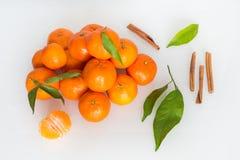 Frutti freschi di tangarines Fotografia Stock