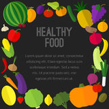 Frutti, icone delle verdure Immagine Stock