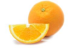 Frutti isolati delle arance Immagine Stock