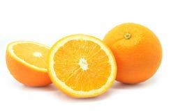 Frutti isolati delle arance Fotografia Stock Libera da Diritti