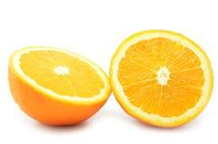 Frutti isolati delle arance Fotografie Stock Libere da Diritti