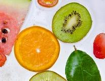 Frutti, isolato su bianco Fotografia Stock Libera da Diritti