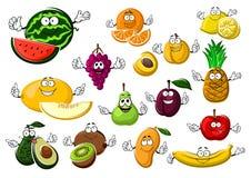 Frutti maturi appetitosi del giardino e tropicali Fotografia Stock Libera da Diritti