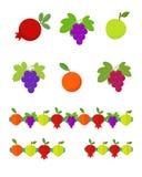 Frutti messi e ghirlande Fotografia Stock Libera da Diritti