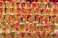 Frutti nel mercato dell'alimento Immagini Stock Libere da Diritti