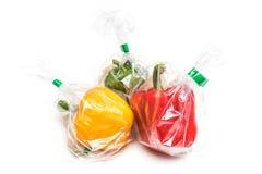 Frutti nel sacchetto di plastica Fotografia Stock Libera da Diritti