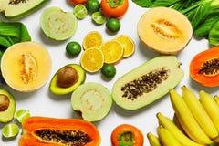 Frutti organici delle verdure di nutrizione sana Ingredienti di alimento Immagini Stock