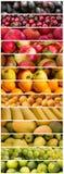 Frutti - preparato variopinto della frutta - collage dell'alimento Fotografie Stock
