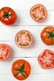 Frutti rossi dei pomodori isolati su bianco Immagine Stock Libera da Diritti