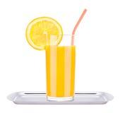 Frutti saporiti di estate con succo in vetro Fotografia Stock