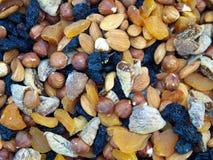 frutti secchi e biscotto misto immagini stock