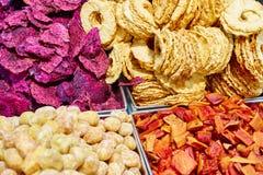 Frutti secchi per lo spuntino sano Fotografia Stock Libera da Diritti