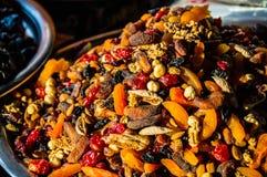 Frutti secchi sul mercato Immagini Stock Libere da Diritti