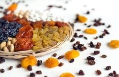 Frutti secchi, uva passa, albicocche secche, dadi, uva secca, secca Immagini Stock