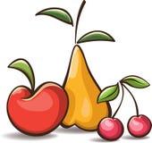 Frutti semplici del fumetto Fotografia Stock Libera da Diritti