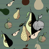 Frutti stilizzati dell'estratto Fotografia Stock
