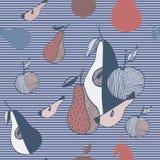 Frutti stilizzati dell'estratto Immagini Stock
