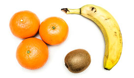Frutti su bianco Fotografie Stock Libere da Diritti