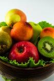 Frutti su un fondo bianco Immagine Stock Libera da Diritti